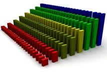 Gráfico de barra cada vez mayor coloreado Imagen de archivo libre de regalías