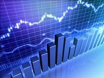 Gráfico de barra común financiero ilustración del vector
