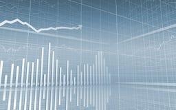 Gráfico de barra com seta ascendente Fotografia de Stock Royalty Free