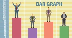 Gráfico de barra do homem de negócio Fotos de Stock Royalty Free