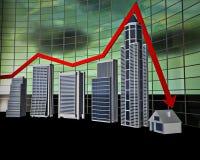 Gráfico de barra do negócio Foto de Stock