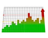 Gráfico de barra do negócio. ilustração do vetor