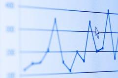 Gráfico de barra na tela do LCD Imagens de Stock Royalty Free