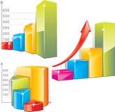 Gráfico de barra positivo Fotografía de archivo libre de regalías