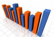 gráfico de barra tridimensional del negocio foto de archivo