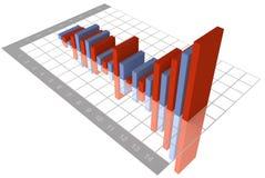 gráfico de barra tridimensional del negocio imagen de archivo libre de regalías
