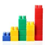 Gráfico de barras colorido Fotografia de Stock