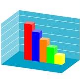 Gráfico de barras do vetor 3d Fotos de Stock Royalty Free