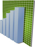 Gráfico de barras financeiro Imagens de Stock Royalty Free