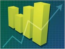 Gráfico de barras financeiro Foto de Stock Royalty Free
