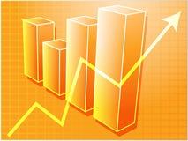 Gráfico de barras financeiro   Imagem de Stock Royalty Free