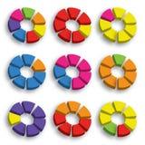 Gráfico de círculo da cor Imagem de Stock