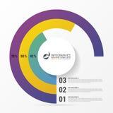 Gráfico de círculo del gráfico de sectores Plantilla moderna del diseño de Infographics Foto de archivo libre de regalías