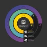Gráfico de círculo del gráfico de sectores Plantilla moderna del diseño de Infographics Vector Foto de archivo libre de regalías