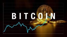 Gráfico de citas de bitcoins en el intercambio almacen de metraje de vídeo