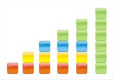 Gráfico de cor imagens de stock royalty free