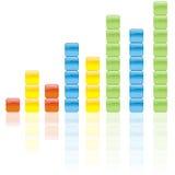 Gráfico de cor imagem de stock