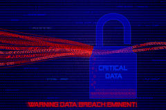 Gráfico de dados do computador que está sendo roubado por hacker foto de stock royalty free