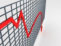 Gráfico de disminución ilustración del vector