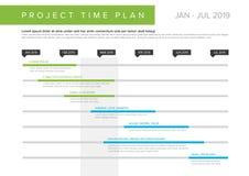 Gráfico de Gantt do plano do tempo do projeto do vetor ilustração do vetor