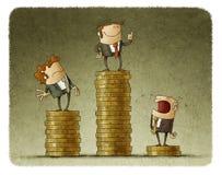 Gráfico de hombres de negocios ilustración del vector