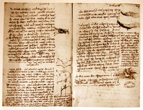 Gráfico de ingeniería de Leonardo Foto de archivo libre de regalías