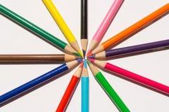 Gráfico de lápices coloreado Imágenes de archivo libres de regalías