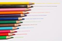 Gráfico de lápices coloreado Foto de archivo libre de regalías