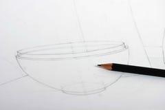 Gráfico de lápiz fotografía de archivo libre de regalías