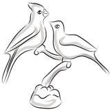 Gráfico de la acuarela de los Lovebirds libre illustration