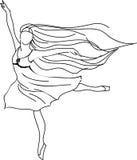 Gráfico de la bailarina stock de ilustración