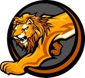 Gráfico de la carrocería de la mascota del león Fotos de archivo libres de regalías