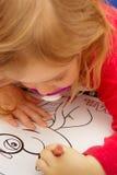 Gráfico de la chica joven Fotos de archivo libres de regalías