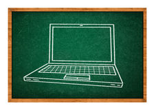 Gráfico de la computadora portátil Foto de archivo