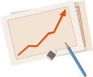 Gráfico de la estadística libre illustration
