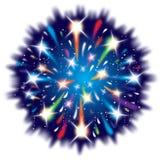 Gráfico de la explosión del fuego artificial de la celebración Foto de archivo libre de regalías