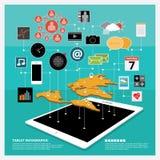 Gráfico de la información de la tableta Fotografía de archivo libre de regalías