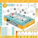 Gráfico de la información del transporte de la ciudad Imagen de archivo libre de regalías