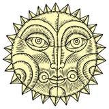 Gráfico de la mano de Sun Fotografía de archivo libre de regalías