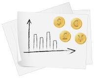 Gráfico de la moneda Imagen de archivo