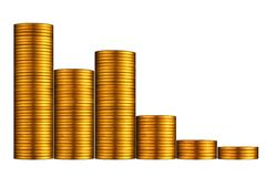 Gráfico de la moneda de oro. Fotos de archivo