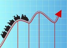 Gráfico de la montaña rusa Foto de archivo