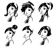 Gráfico de la muchacha de la manera stock de ilustración