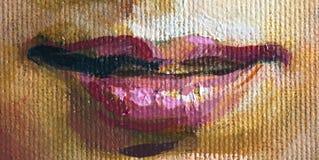 Gráfico de la muchacha, fragmento de la cara, pintura Imagen de archivo