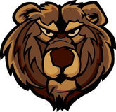 Gráfico de la pista de la mascota del oso del grisáceo Fotografía de archivo libre de regalías