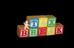 Gráfico de la rebaja de impuestos Imágenes de archivo libres de regalías