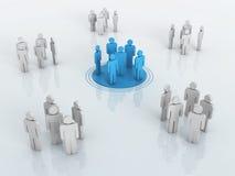 Gráfico de la red del negocio ilustración del vector