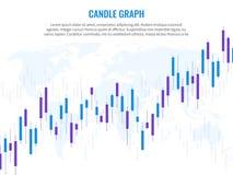 Gráfico de la vela Globo del mundo de la carta de crecimiento de los índices de la inversión de comercio de las finanzas del r libre illustration