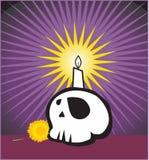 Gráfico de la vela y del cráneo   Imágenes de archivo libres de regalías