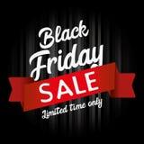 Gráfico de la venta de Black Friday Fotografía de archivo